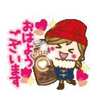 【冬に使える♥】ゆるカワ彼女♥(個別スタンプ:01)
