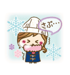 【冬に使える♥】ゆるカワ彼女♥(個別スタンプ:15)