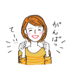 秋・冬カラーのカラフルガール(個別スタンプ:03)