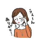秋・冬カラーのカラフルガール(個別スタンプ:06)