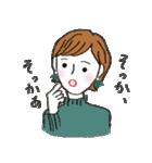 秋・冬カラーのカラフルガール(個別スタンプ:09)