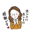 秋・冬カラーのカラフルガール(個別スタンプ:11)