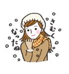 秋・冬カラーのカラフルガール(個別スタンプ:13)