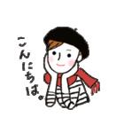 秋・冬カラーのカラフルガール(個別スタンプ:21)