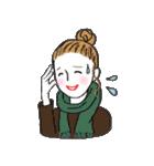 秋・冬カラーのカラフルガール(個別スタンプ:22)
