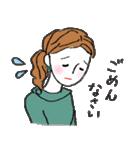 秋・冬カラーのカラフルガール(個別スタンプ:26)