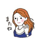 秋・冬カラーのカラフルガール(個別スタンプ:34)