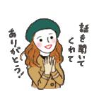 秋・冬カラーのカラフルガール(個別スタンプ:36)