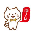 白ネコちゃんの毎日使う言葉【シンプル】(個別スタンプ:12)