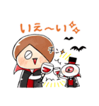 ゆる~いゲゲゲの鬼太郎のハロウィン♪(個別スタンプ:01)
