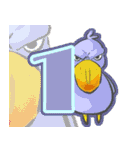 2017年 新年☆色鳥どりスタンプ☆(個別スタンプ:07)