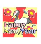 2017年 新年☆色鳥どりスタンプ☆(個別スタンプ:09)