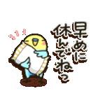 冬・インコちゃん(個別スタンプ:11)