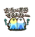 冬・インコちゃん(個別スタンプ:24)