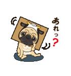 気軽にスタンプ パグ 好き編(個別スタンプ:3)