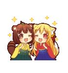 タヌキ娘とキツネ娘(個別スタンプ:01)