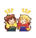 タヌキ娘とキツネ娘(個別スタンプ:03)