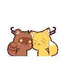 タヌキ娘とキツネ娘(個別スタンプ:39)