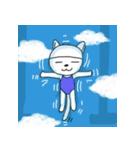 水泳女子のためのスタンプ、その4(個別スタンプ:6)