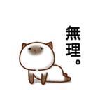乾いた目をしている猫(個別スタンプ:4)