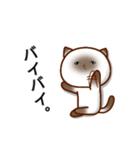 乾いた目をしている猫(個別スタンプ:40)
