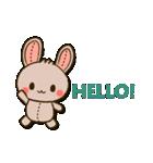 縫い目ウサギの日常会話(個別スタンプ:01)