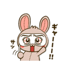 縫い目ウサギの日常会話(個別スタンプ:16)