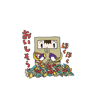 ハコ男子(冬)(個別スタンプ:16)
