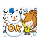 ほのぼのカノジョ【たのしい冬】(個別スタンプ:02)