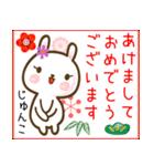 ●じゅんこ●が使う名前スタンプ■冬+(個別スタンプ:40)
