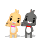 3Dうさぎ ラパン&バニー1(個別スタンプ:16)