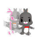 3Dうさぎ ラパン&バニー2(個別スタンプ:9)