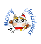 黒猫ハッピー&みーこ in Christmas(個別スタンプ:01)