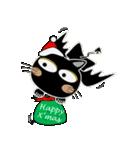 黒猫ハッピー&みーこ in Christmas(個別スタンプ:08)
