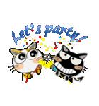 黒猫ハッピー&みーこ in Christmas(個別スタンプ:11)