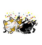 黒猫ハッピー&みーこ in Christmas(個別スタンプ:13)