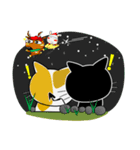 黒猫ハッピー&みーこ in Christmas(個別スタンプ:16)