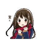 無口ぎみなマフラー女子高生(個別スタンプ:01)