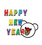 しろくま&黄熊のメリクリ&あけおめ(お正月)(個別スタンプ:10)