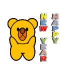 しろくま&黄熊のメリクリ&あけおめ(お正月)(個別スタンプ:11)