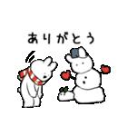 ありがとう、感謝、雪だるま(個別スタンプ:03)
