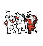 踊る、サンタ、雪だるま(個別スタンプ:32)