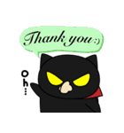 黒猫のジャガー(個別スタンプ:7)