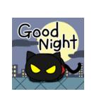 黒猫のジャガー(個別スタンプ:18)