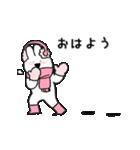 すこぶる動くウサギ【冬】(個別スタンプ:7)
