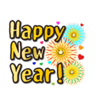 お正月の超でか文字スタンプ(2017年賀状)(個別スタンプ:24)