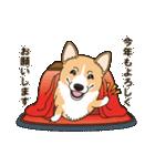 気軽にスタンプ コーギー 冬編(個別スタンプ:40)