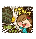 かわいい主婦の1日【クリスマス&正月編】(個別スタンプ:35)