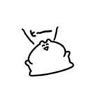 雑に動くウサギさんのスタンプ(個別スタンプ:02)