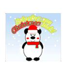 パンダの冬(年末年始:クリスマス&正月)(個別スタンプ:01)